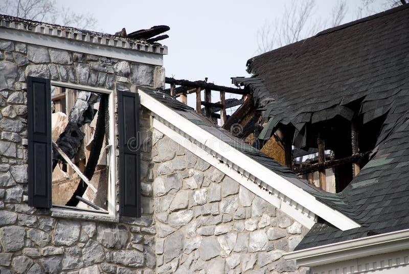 De Schade van de Brand van het Huis van de luxe royalty-vrije stock afbeeldingen