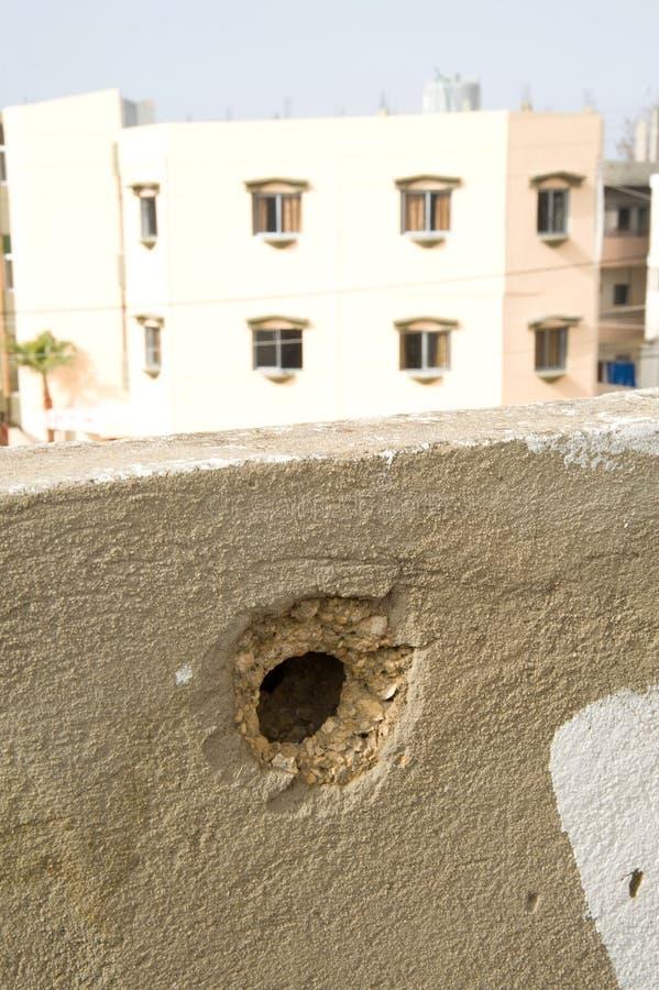 De Schade van de slag in Libanon royalty-vrije stock afbeeldingen