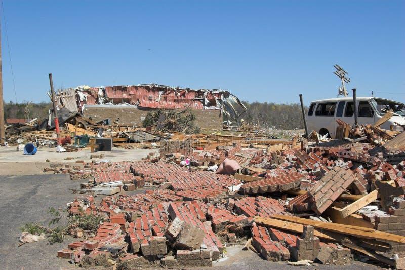 De schade van de tornado KY 1g stock fotografie