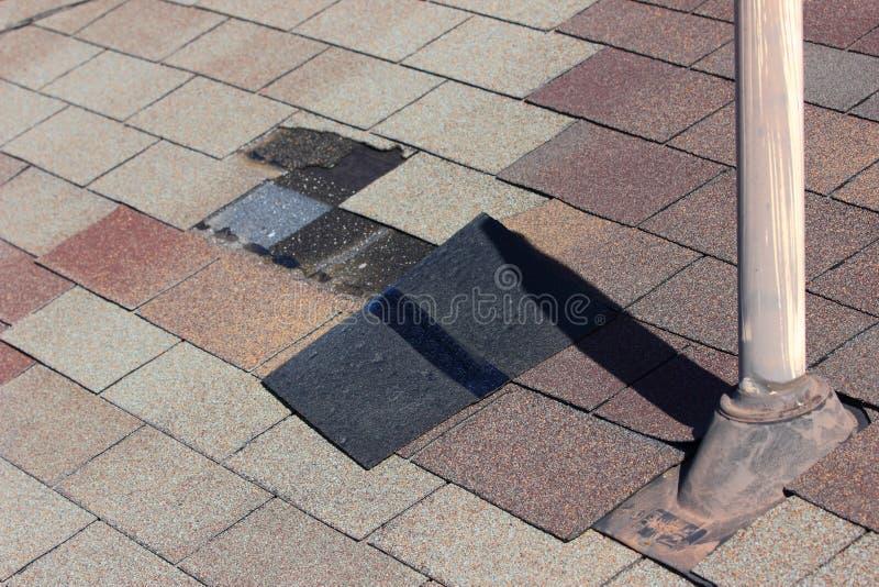 De Schade van het dak royalty-vrije stock afbeelding