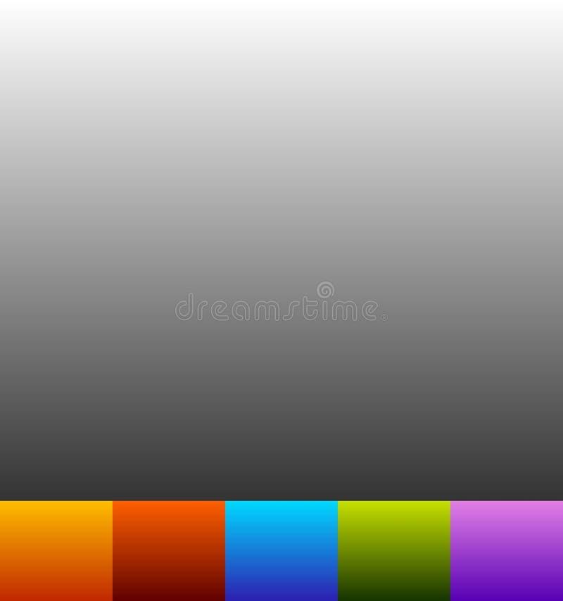 In de schaduw gestelde achtergrond in kleur 6 Lege kleurrijke achtergrond royalty-vrije illustratie
