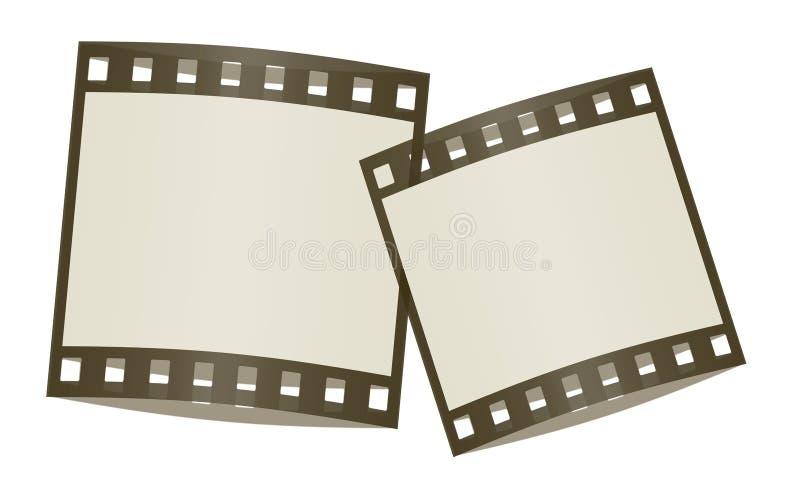 In de schaduw gestelde de frames van de film vector illustratie