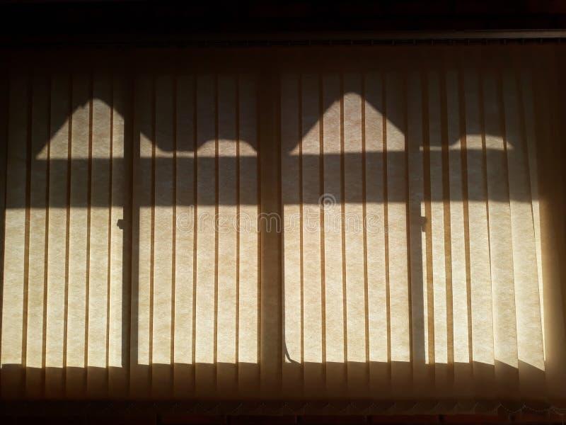 de schaduw in het venster stock foto