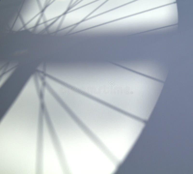 De Schaduw van de fiets stock foto
