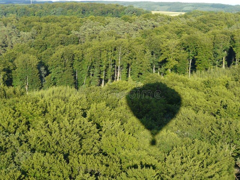 De Schaduw Van De Hete Luchtballon Royalty-vrije Stock Afbeelding