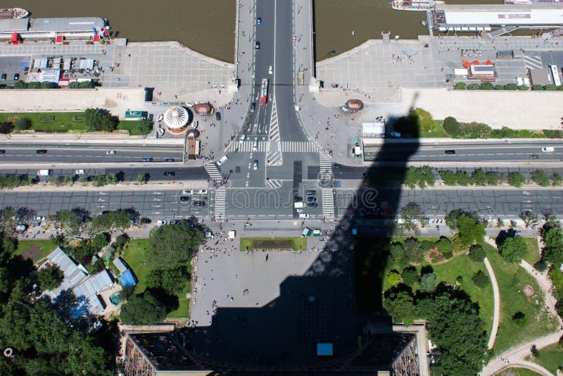 De Schaduw van de Toren van Eiffel royalty-vrije stock fotografie