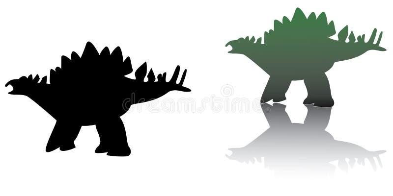 De schaduw van Dino vector illustratie