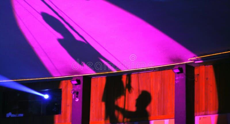 De schaduw van het circus stock fotografie