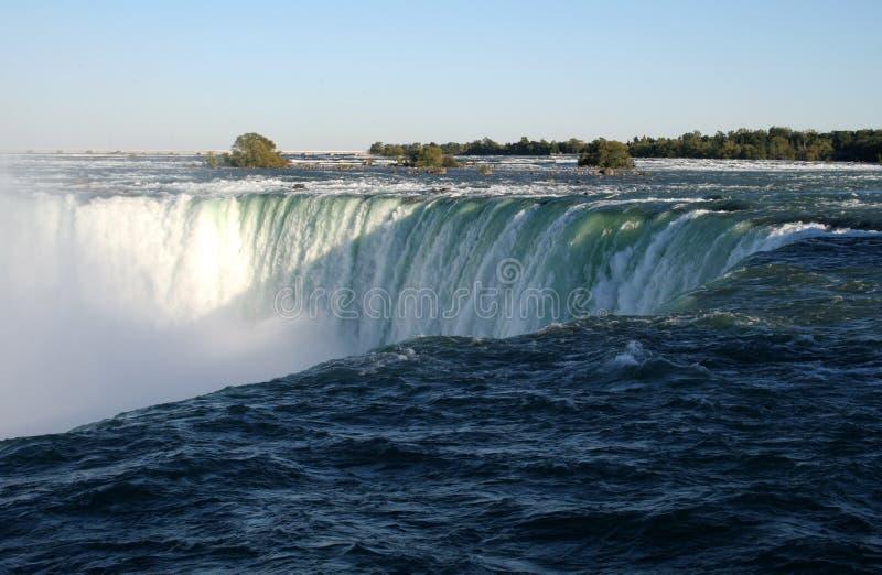De Schaduw van het Niagara Falls stock afbeelding