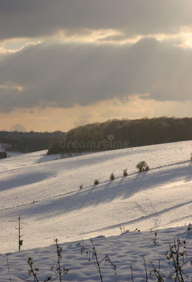 De Schaduwen en de hemel van de winter royalty-vrije stock afbeeldingen