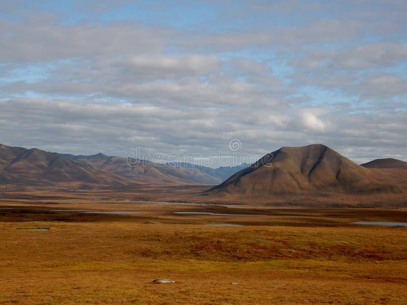 De Schaduwen van de wolk - NoordpoolWoestijn royalty-vrije stock afbeelding