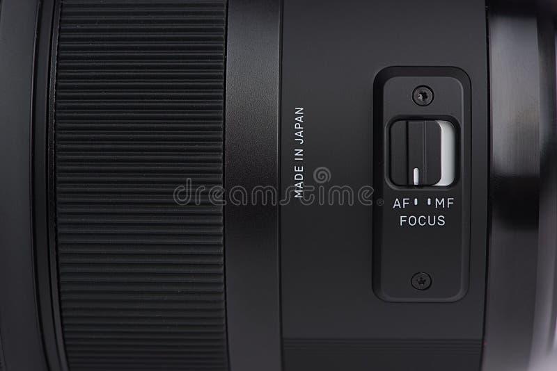 De schakelaar van de cameralens stock afbeelding