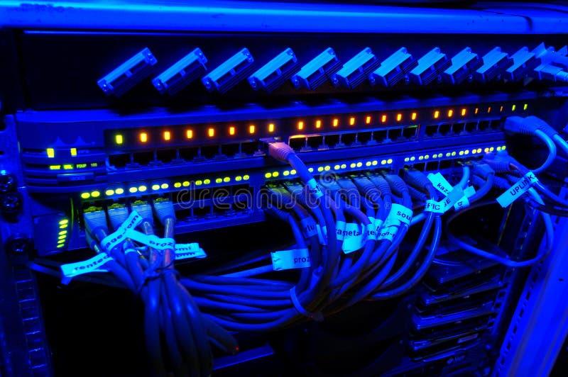De schakelaar van het netwerk - hub stock fotografie