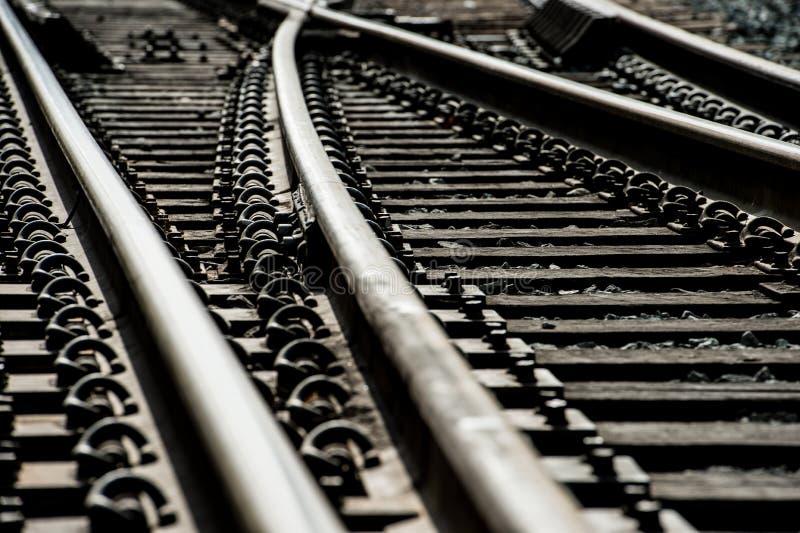 De schakelaars van het treinspoor stock afbeelding