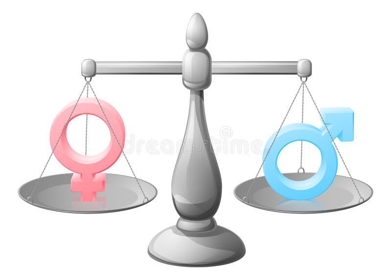 De schalen van het geslachtssymbool stock illustratie