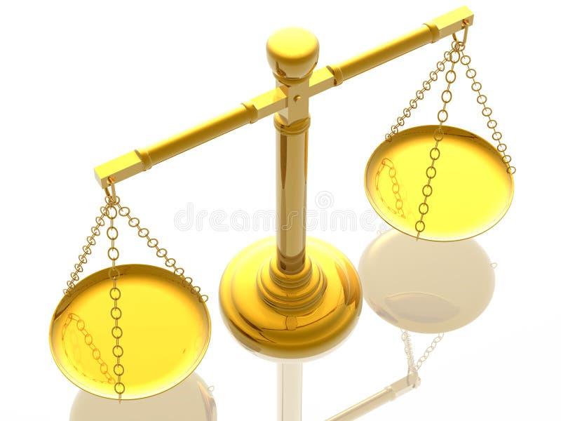 De schalen van Justices royalty-vrije illustratie