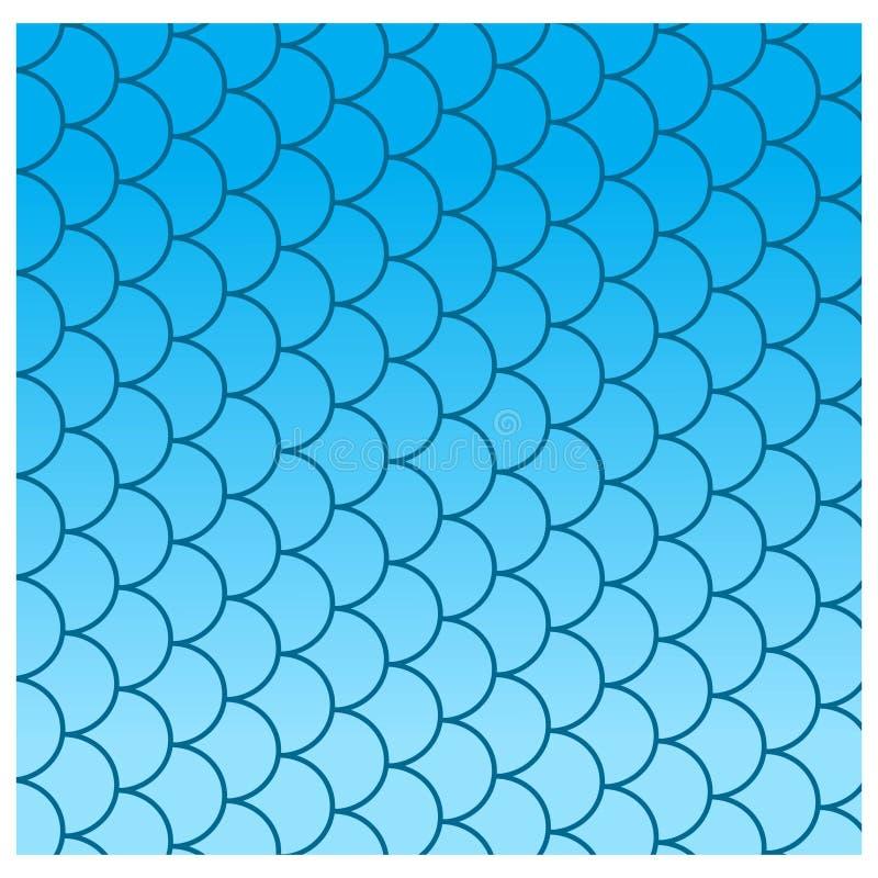 De schalen van vissen stock illustratie