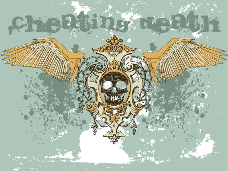 De schedel van Grunge stock illustratie
