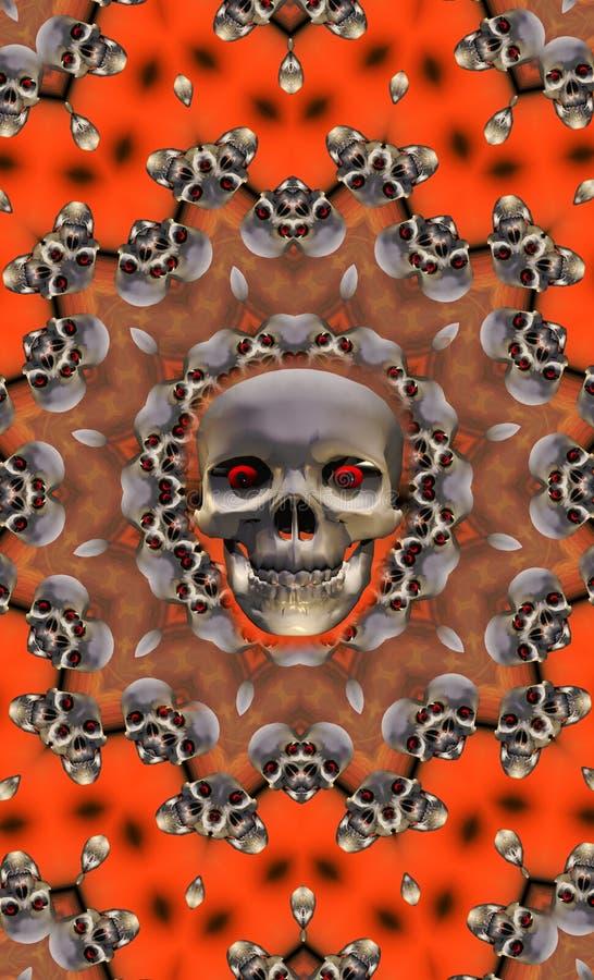 De schedel van Halloween vector illustratie