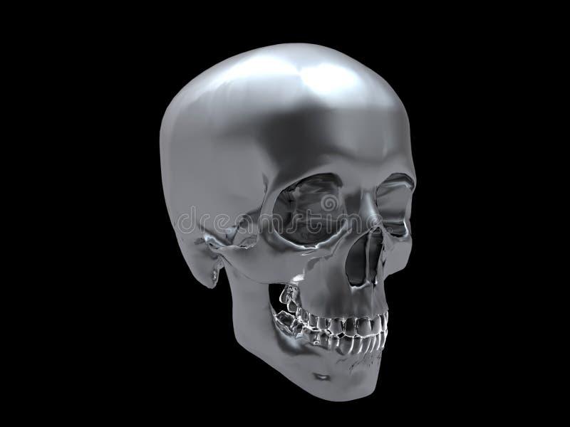 De schedel van het chroom vector illustratie