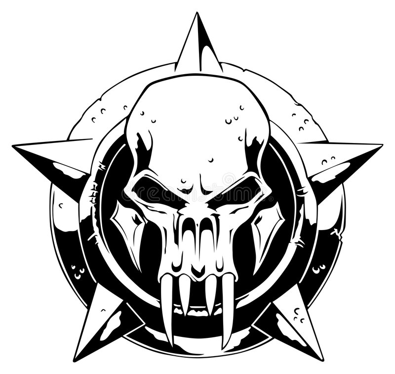 De schedel van het monster