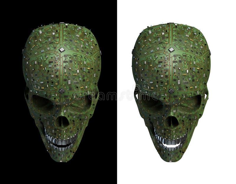 De schedel van Malware stock illustratie