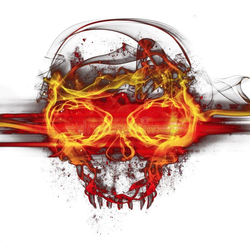 De schedel van vlammen royalty-vrije illustratie