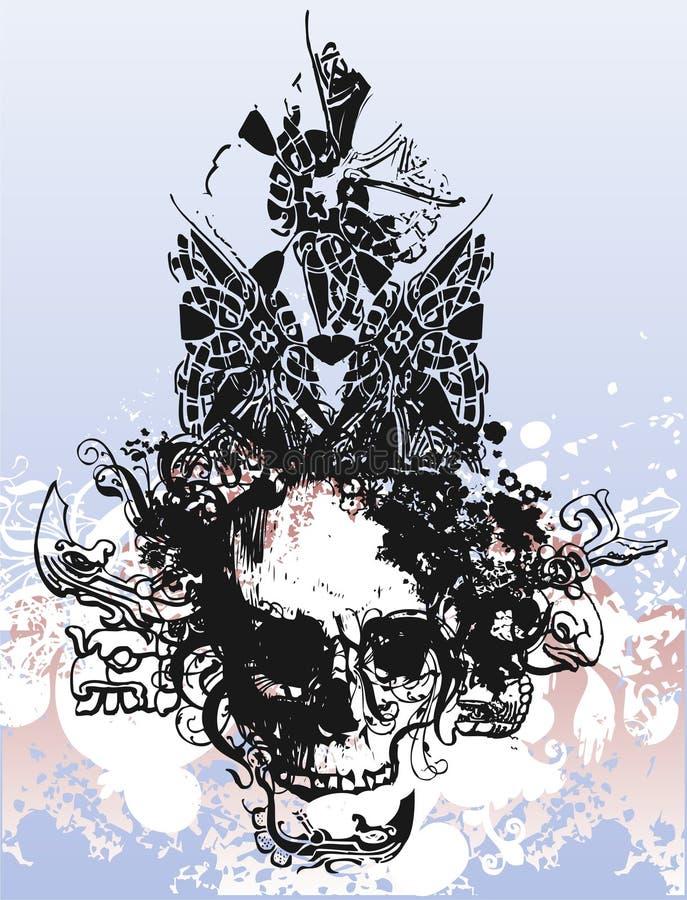 De schedelillustratie van de heks royalty-vrije illustratie