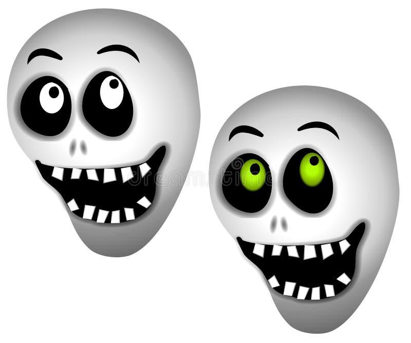 De Schedels van het Skelet van Halloween stock illustratie