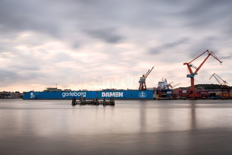 De scheepswerf van Gothenburg stock afbeelding
