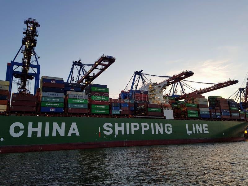 De Scheepvaartlijn van China royalty-vrije stock foto's