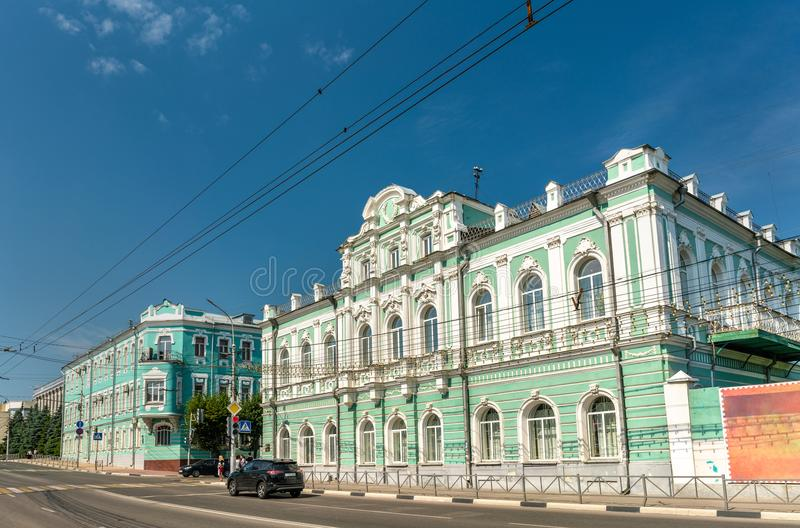 De scheidsgerechtbouw in het stadscentrum van Ryazan, Rusland royalty-vrije stock afbeeldingen