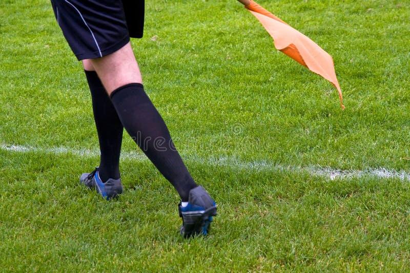 De scheidsrechter van het voetbal stock foto's