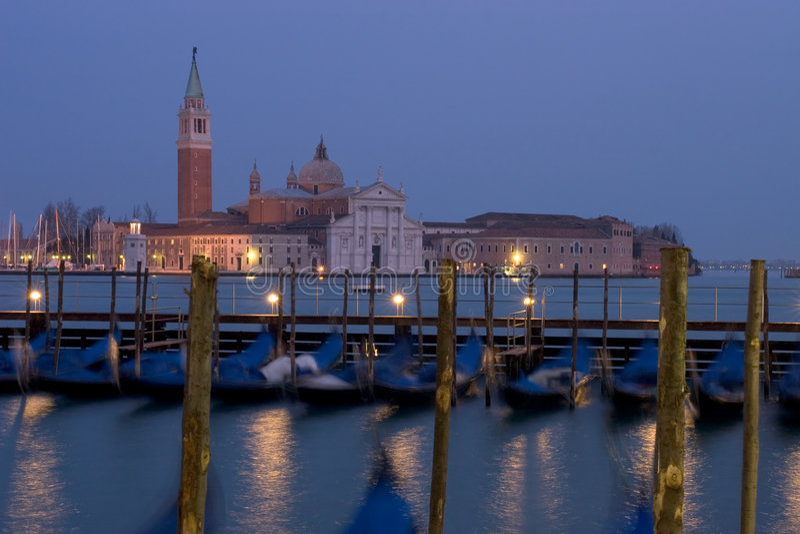 De Schemer van Venetië Maggiore royalty-vrije stock afbeeldingen