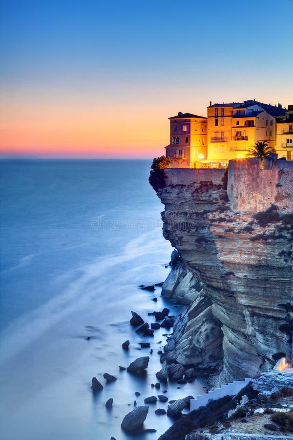 De schemering van Corsica royalty-vrije stock fotografie