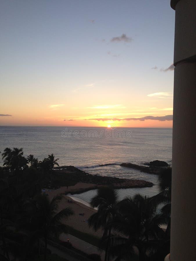 De schemerzonsondergang van Hawaï royalty-vrije stock fotografie