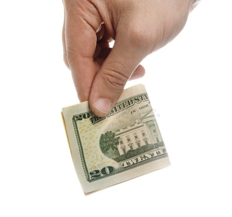 De Schenking van het geld stock fotografie
