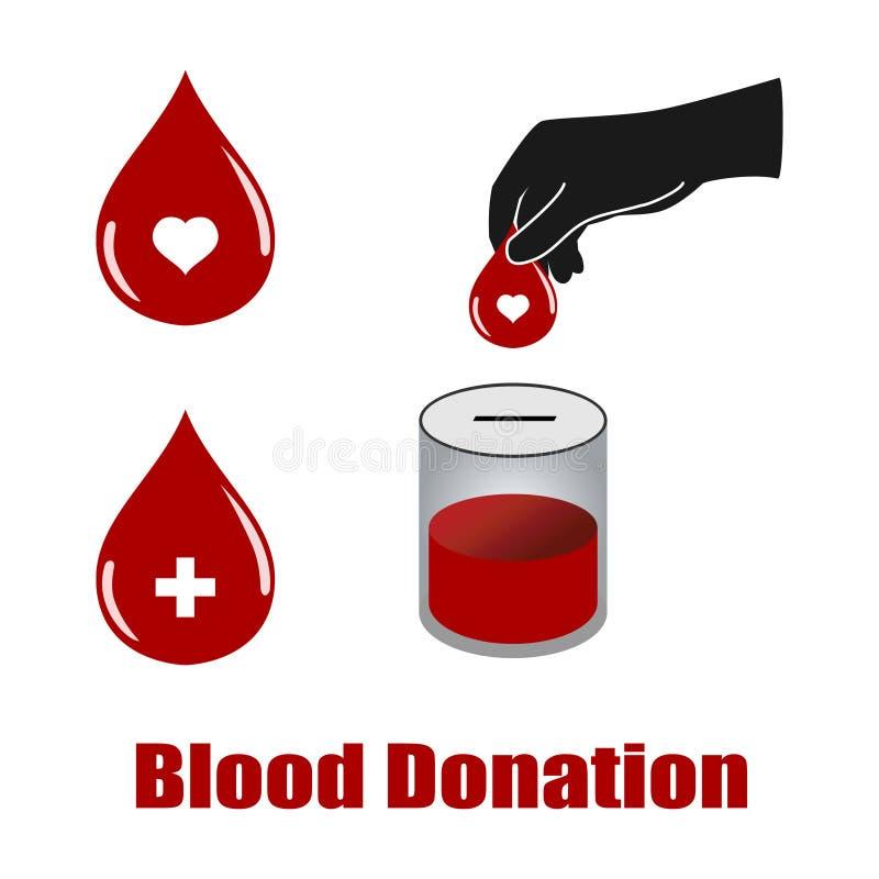 De schenkingsvectoren van het bloed stock illustratie