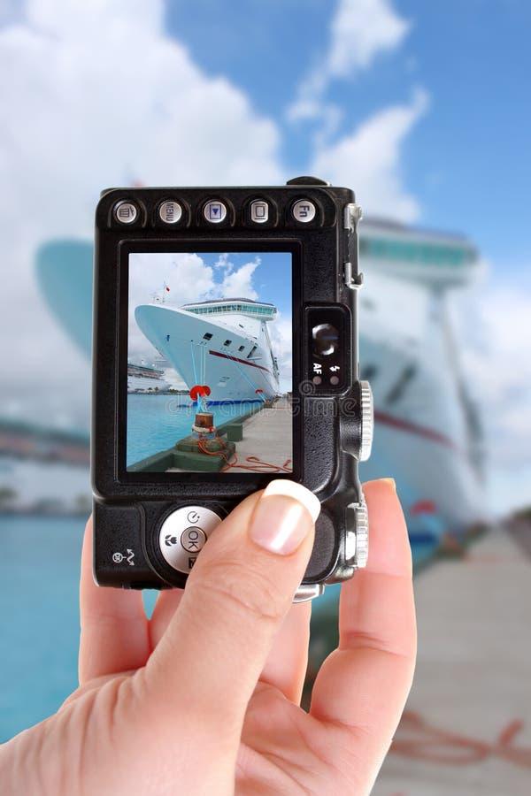 De schepen van de cruise in Nassau haven stock foto's