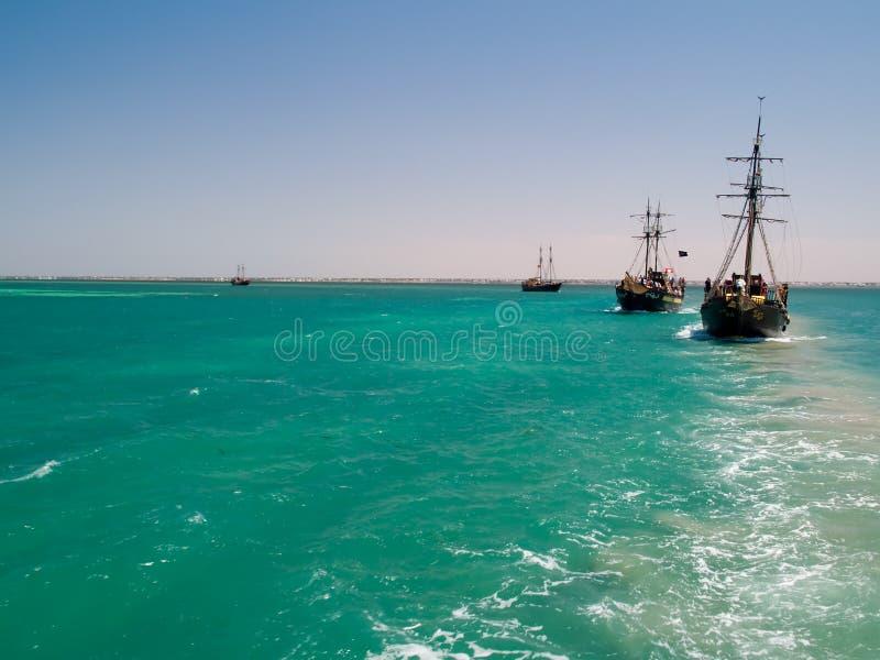 De Schepen van de piraat royalty-vrije stock foto's