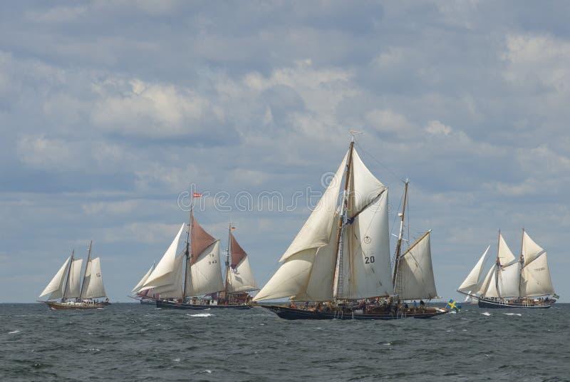 De schepen van Gaffrigged royalty-vrije stock foto
