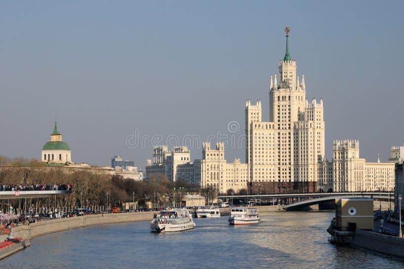 De schepen van Moskou stock afbeeldingen