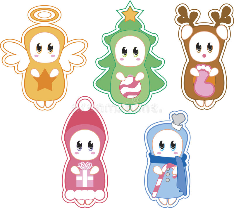 De Schepselen van Kerstmis vector illustratie