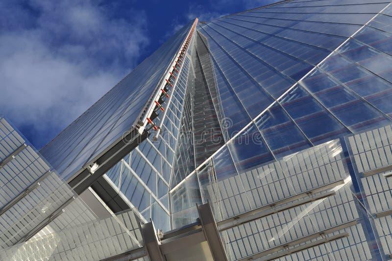 De Scherf, Londen, Groot-Brittannië. Verticaal perspectief. royalty-vrije stock afbeelding