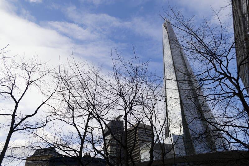 De Scherf torenhoog over Londen, in Londen, het UK wordt gefotografeerd dat E royalty-vrije stock afbeelding