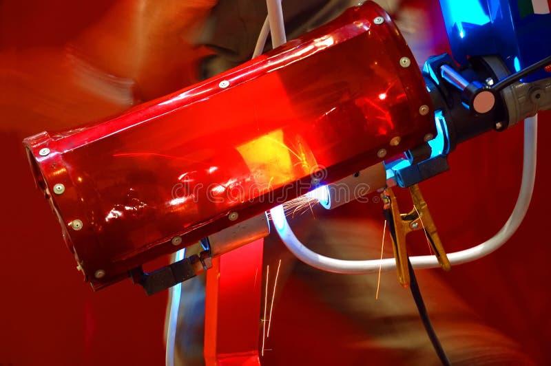 De scherpe apparatuur van de laser stock afbeelding