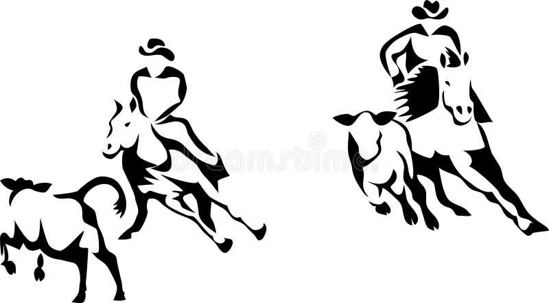 De scherpe paardconcurrentie vector illustratie