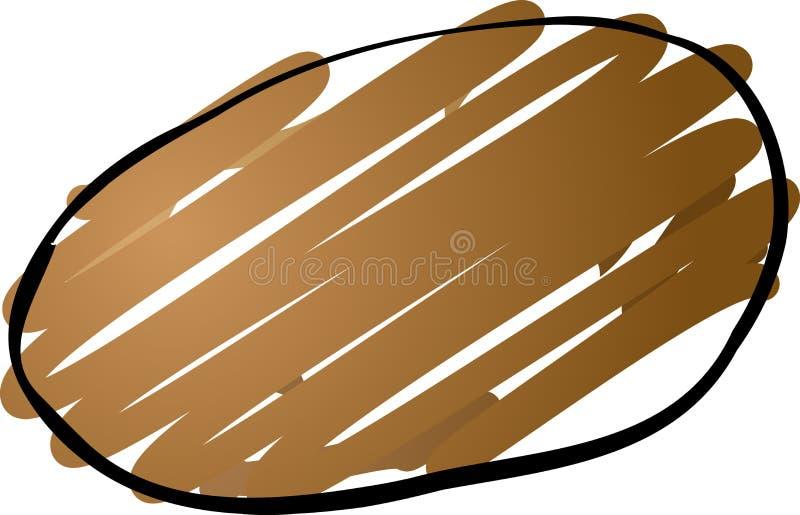 De schets van de aardappel stock illustratie
