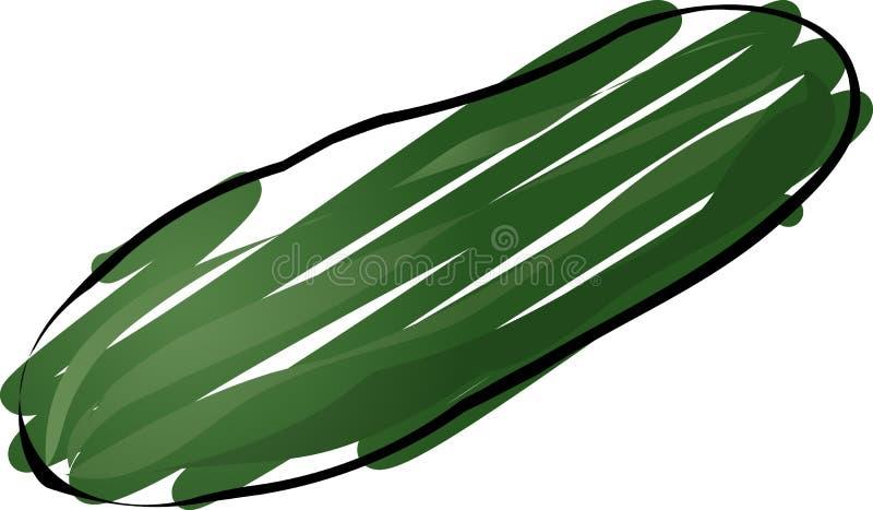 De schets van de komkommer royalty-vrije illustratie