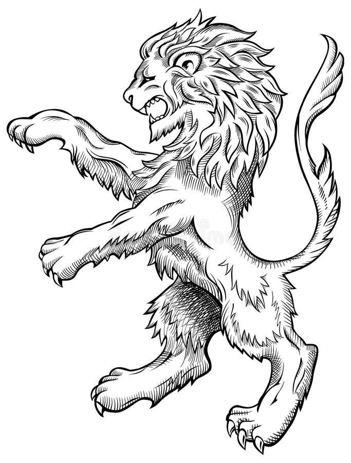 De Schets van de leeuw stock illustratie